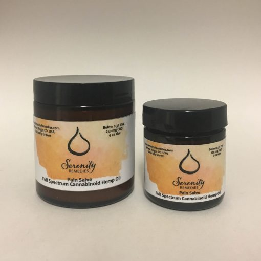 Serenity Remedies CBD All Natural Organic Cannabinoid Hemp Products - 250mg Pain Salve - Topical - Shop and buy online