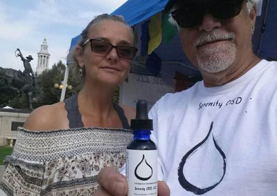 Rachel & Tommy at The Taste of Colorado with our Best Seller:  500mg
