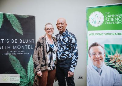 Montel Williams and Rachel Cole at the Cannabis Science Conference
